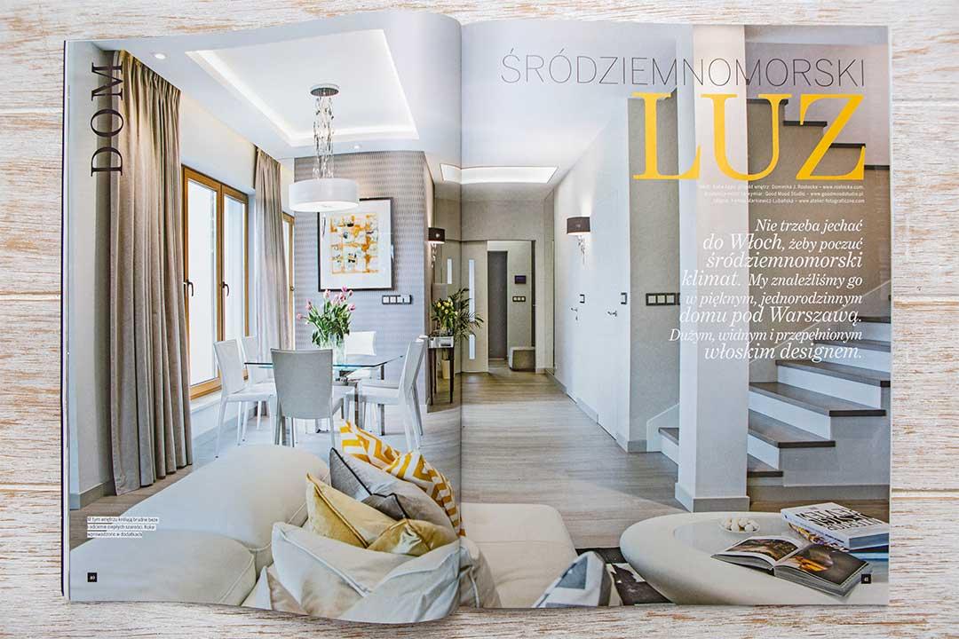 Wnętrza w Obiektywie - Publikacja Villa Śródziemnomorski luz